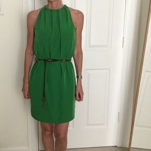 Zara apple green dress with back zip.